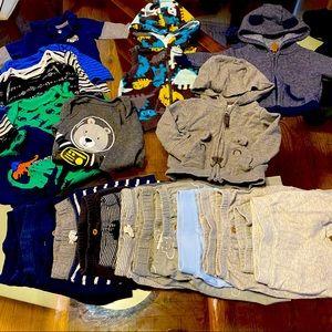 25pc bundle lot pants vest jacket baby boy 0-3